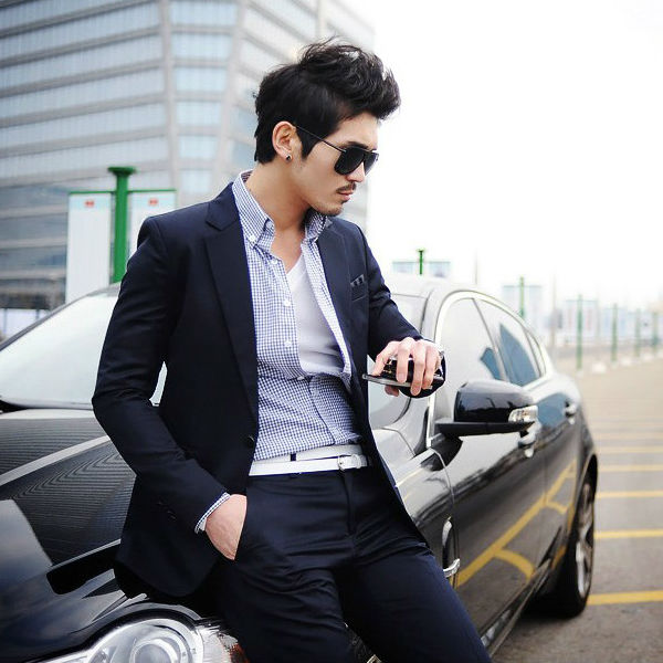 SA08 New Menu0027s Fashion Formal One Botton Slim Fit Suit Jacket+Pants Wedding  Suit US