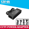 Free Shipping Universal 12V 4A AC100-240V to DC Power Adapter Converter Supply Charger Transformer with LED Indicator light NEW