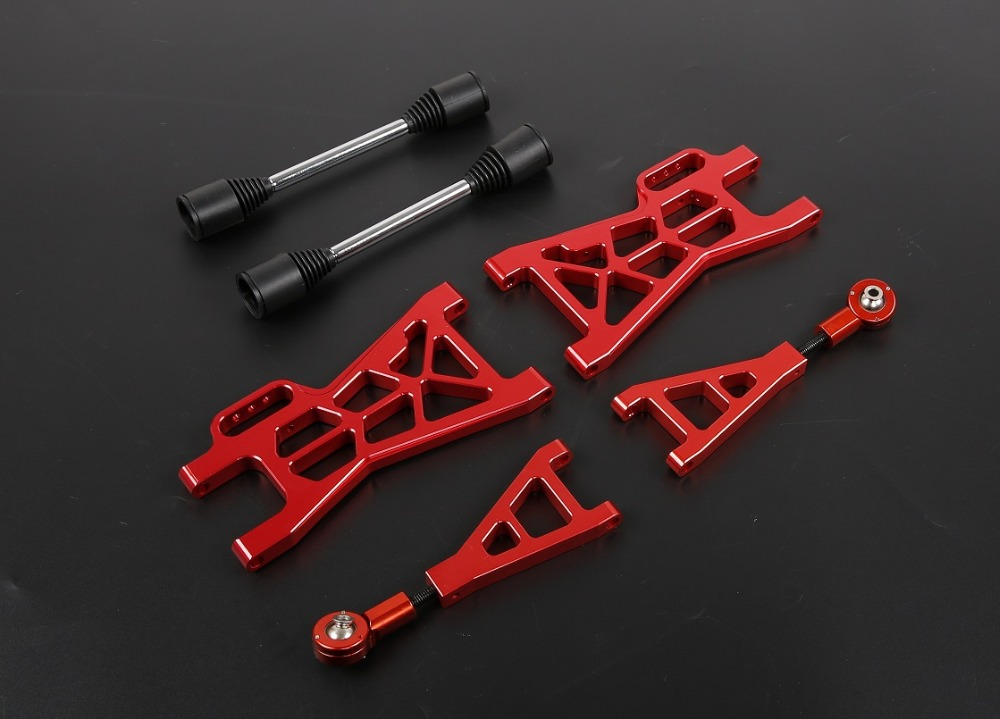1/5 gas rc baja spare parts Baja CNC alloy Rear extended A arm set for HPI BAJA 5B SS ROVAN KM baja front alloy arm set fit for 1 5 rc car hpi rovan baja upgrade parts
