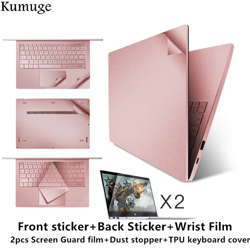 Vinyl Decal Laptop Sticker for Xiaomi Mi Notebook Air 12.5 13.3 Pro 15.6 Vinyl Decal Laptop Body Skin+Film+TPU Keyboard Cover
