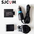 Sjcam acessórios do desktop charger + carregador de carro + carro de sucção suporte de copo + bateria para sj4000 sj5000 sjcam wifi m10 plus SJ5000X