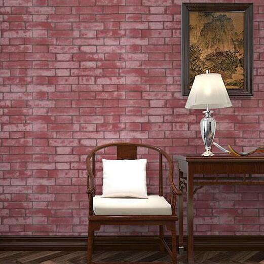 beibehang  Modern Vintage Chinese Style wallpaper PVCVinyl Brick  Wall paper Home decoration papel de parede Roll papier peint