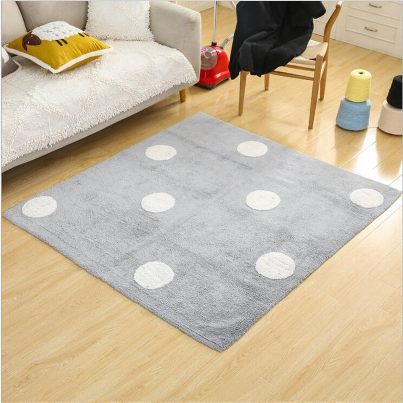 140X160cm Simple Creative Soft Cotton Carpets For Living Room Bedroom Rugs Home Carpet Delicate Hand Woven Area Rug Door Mat - 2