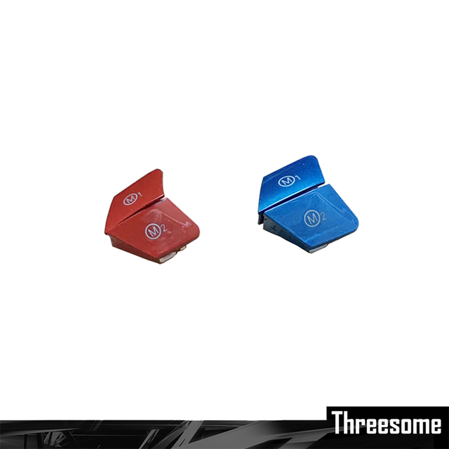 SRXTZM 2 stücke Für BMW M3 M4 F80 F82 F83 Lenkrad Personalisierte Rot Blau Taste M1 M2 Modus Taste benutzerdefinierte Schalter Taste