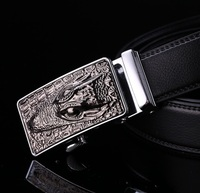 2017 New Sytle Fashion Brand Men Formal Belt Crocodile Mens Genuine Leather Belt Luxury Metal Buckle