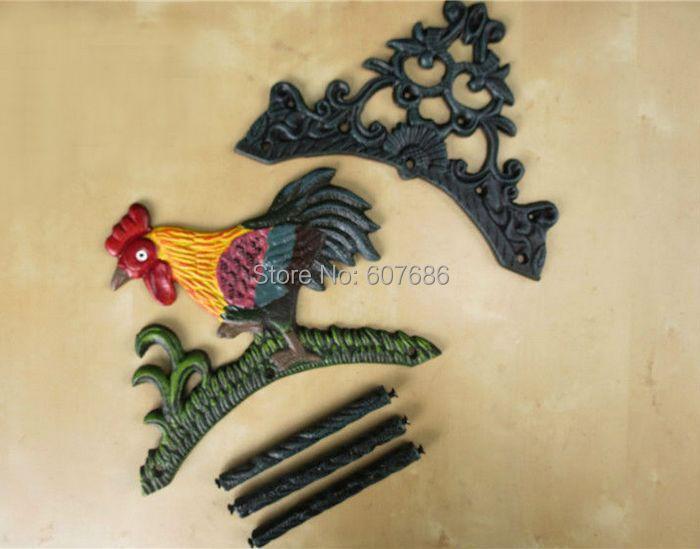 Decorative Garden Cast Iron Hosepipe Pipe Hose Hanger Chicken ...