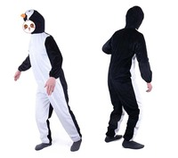 Adult Penguins Play A Suit Animal Costume Parents And Children The Game Is Installed A Modern