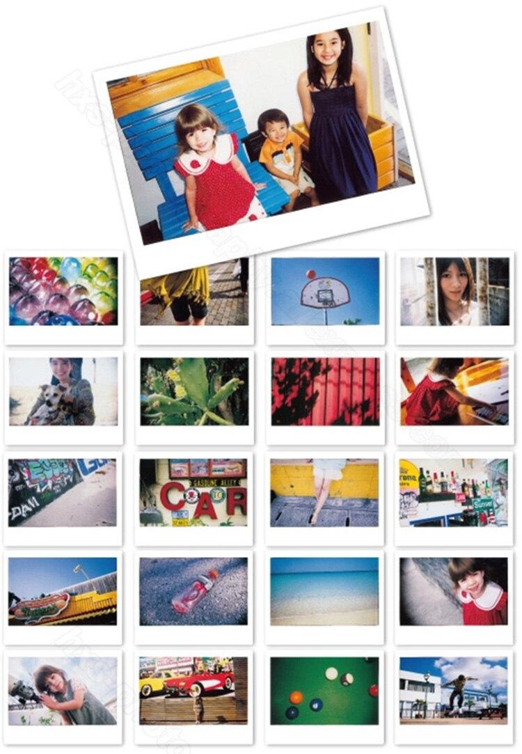 Véritable nouveau Fujifilm Instax Film large blanc 100 feuilles pour caméra papier Photo instantanée Instax large 200 210 300 avec Album cadeau - 4