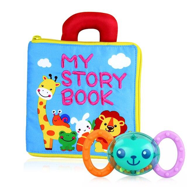 Bebé juguetes de aprendizaje temprano para niños alfabeto y letras Montessori tarjetas suaves libros para niños actividad juguetes de bebé 0- 24 meses