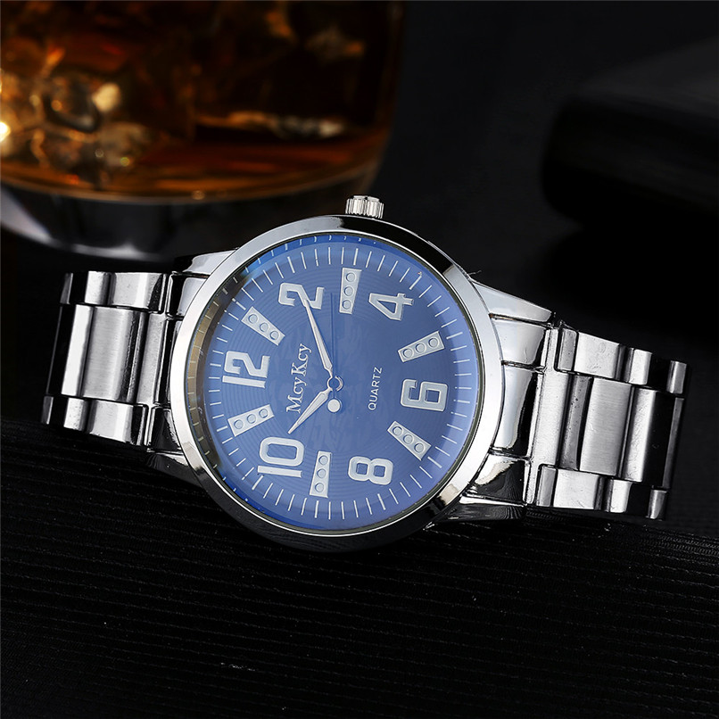 Men Watch Women High Quality Noble  McyKcy Fashion Men Simple Stainless Steel Analog Quartz Wrist Watch HOT SALE Dropshipping 3* smileomg hot sale fashion women crystal stainless steel analog quartz wrist watch bracelet free shipping christmas gift sep 5