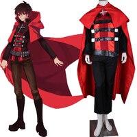 Disfraces de Halloween para adultos rwby roja remolque rubí Cosplay rwby Cosplay rubí por encargo
