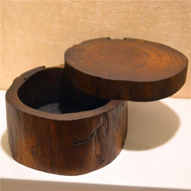 Teak handicrafts ashtray decoration box jewelry box desktop