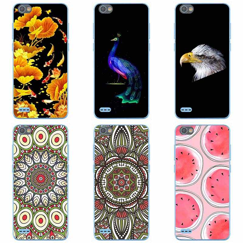 For Tecno F3 Soft silicone Phone Cases For Tecno F3 Pop 1 Soft TPU Material  Back Cover Coque Print painting Flower style