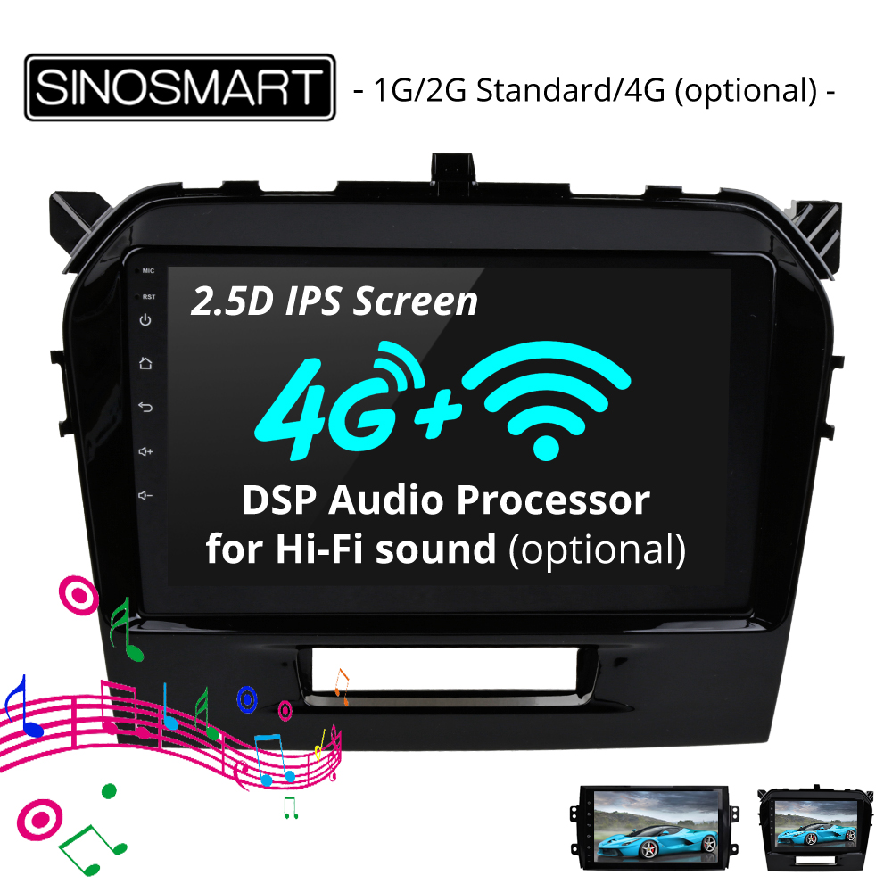 SINOSMART 2 5D IPS 1G 2G Car Navigation GPS Player for Suzuki SX4 Vitara Fiat Sedici