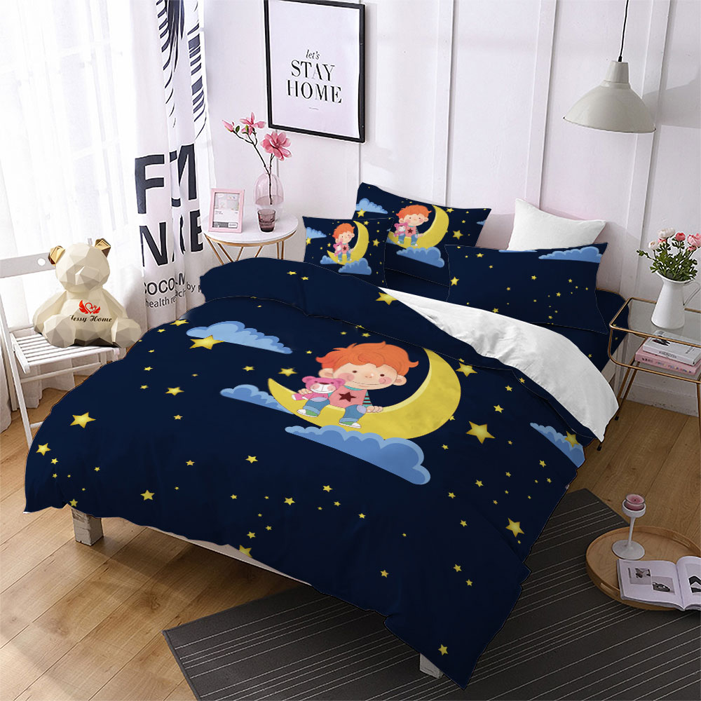 Home Textile Cartoon Lion Bedding Sets Duvet Cover PillowCase Flat Sheet Bear 3Pcs Comforter Bedding Set Kid Bed Linens FHome Textile Cartoon Lion Bedding Sets Duvet Cover PillowCase Flat Sheet Bear 3Pcs Comforter Bedding Set Kid Bed Linens F