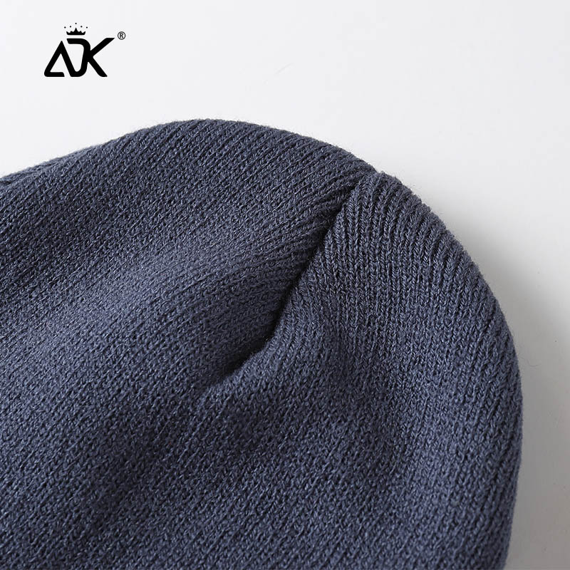 Unisex Hats Knitted ADK Tags Cap Woman Beaines For Winter Breathable Men Gorras Simple Hats Warm Solid Casual Lady Beanies 4