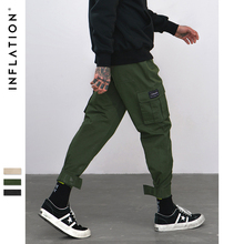 INFLATION 2019 New Casual Pants High Street Men Brand Clothing Elastic Male Trousers Men Joggers Leggings Pencil Pants 8869W
