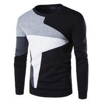 Zogaa 2019, зимние Новые поступления, толстые теплые свитера с круглым вырезом, шерстяной свитер для мужчин, полосатый приталенный вязаный свите...