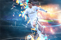 Cristiano Ronaldo Poster Football Figure Posters Ronaldo Wall Sticker CR7 Wallpaper World Cup Stickers Soccer Canvas