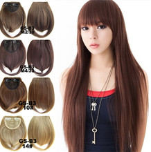 1Pcs Synthetic Hair Straight Bangs Natural Front Bangs Clip In Hair Extensions Line Full Bang Fringe Heat Resistant Hairpiece