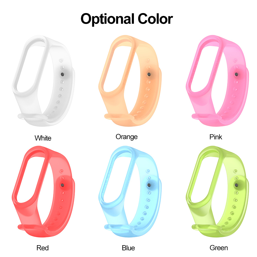Watchband For Xiaomi Mi Band 4 Bracelet Strap Replacement for Xiaomi Mi Band 4 Transparent Sports Wristband TPU watchband
