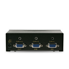 VGA switch 2 into 1 out, with audio 3.5 + video sharing, to remote control, EL-S201-B
