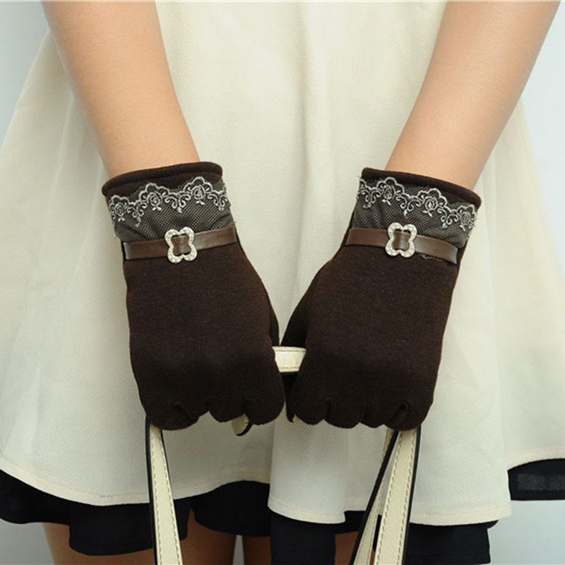 Moisture Absorbing Touch Screen for Women Gloves with Good Elastic and Windproof Property Suitable for Outdoor Cycling and Hiking in Winter 9