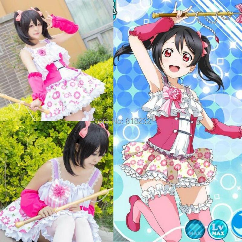 Love Live School Idol Project Nico Yazawa Fairies Tee Dress Uniform Outfit Anime Cosplay Costumes