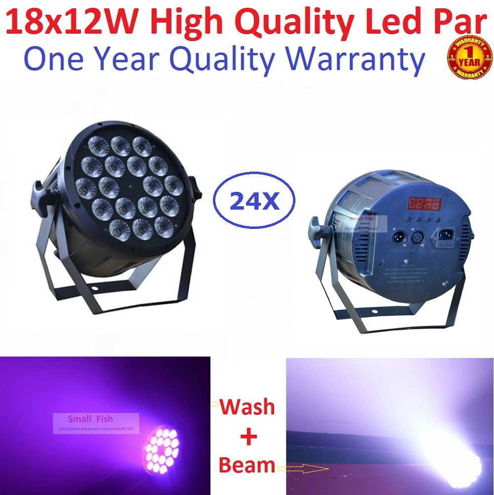 24XLot DJ Necessity Disco DMX Lamp LED Par Light 18X12W RGBW 4IN1 Home Party Lights DJ Equipment Stage Effect Beam Wash Lighting чехол для iphone 5 mitya veselkov kafkafive 41
