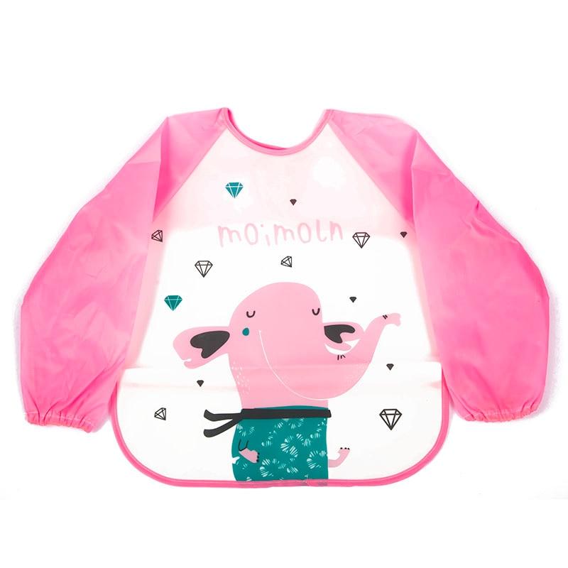 Accessories Practical New Baby Toddler Kids Waterproof Long Sleeve Bibs Apron Mickey Cartoon Feeding Smock
