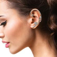 HIYONG Single Piece Gold Geometric Earrings Cuff Punk Korean for Women Animal Ear Rock Silver 2019 Hot Sale