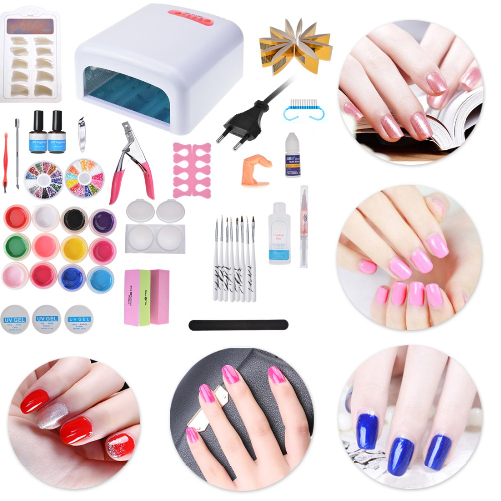 Biutee Pro 36W UV Lamp Dryer Acrylic Nail Art Set Kit Gel Nails With In Sets Kits From Beauty Health On