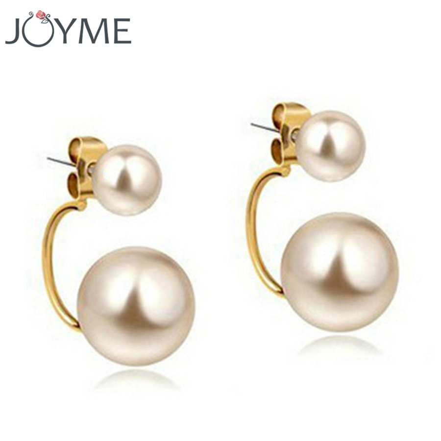 Beads Earrings Double Pearls, Gold Hanging Earring Jackets For Women To  Party Cheap Chinese Goods