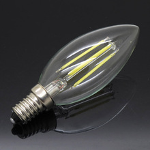 High Power Dimmable E14 8W LED Filament Bulb Candle AC 220V White/Warm White Indoor Light Lamps Equivalent Incandescent