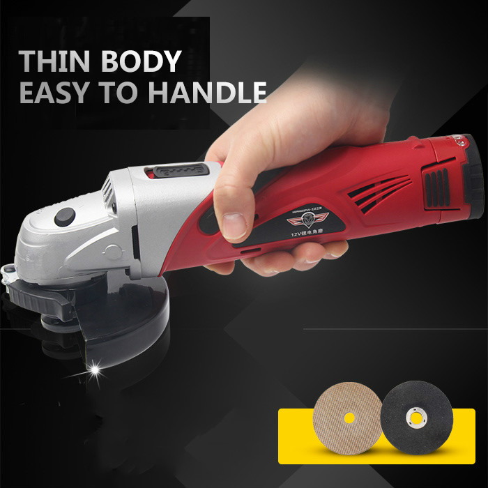 Angle Grinder 12V Lithium Battery Angular Power Tool Grinding Metal Wood cordless Cutting Lithium battery multifunction cuttingAngle Grinder 12V Lithium Battery Angular Power Tool Grinding Metal Wood cordless Cutting Lithium battery multifunction cutting