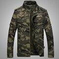 2016 hombres de la chaqueta estilo militar más tamaño ocasional del algodón de la fuerza aérea de camuflaje para hombre ropa de primavera otoño para hombre de las chaquetas