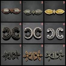 42mm50mm72mm High grade metal rhinestone buckles buttons for fur coats and garment and coat clothing,black copper white gray