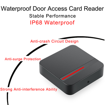 Access Control Card Reader For EM ID M1 MF Waterproof IP68 Outdoor RFID 125KHz/13.56MHZ Proximity Long Range RFID Card Reader waterproof door entry electronic proximity smart 125khz rfid card reader with keydoard