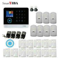 SmartYIBA 433 МГц беспроводной черный 3g GSM и wifi DIY умный дом Охранная сигнализация комплект инфракрасный датчик движения управление приложением