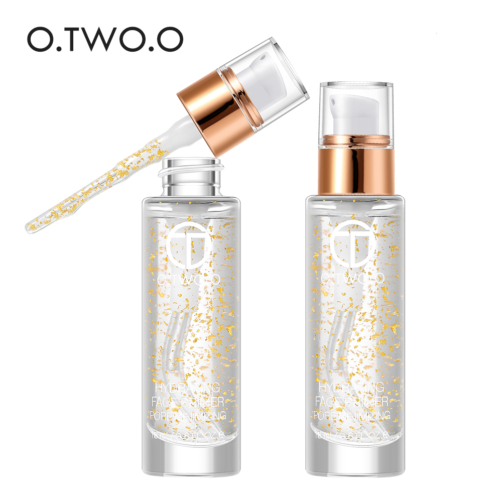 O.TWO.O Professional 24k Rose Gold Elixir Makeup Primer 18ml Anti-Aging Moisturizer Face Care Essential Oil Makeup Base Liquid