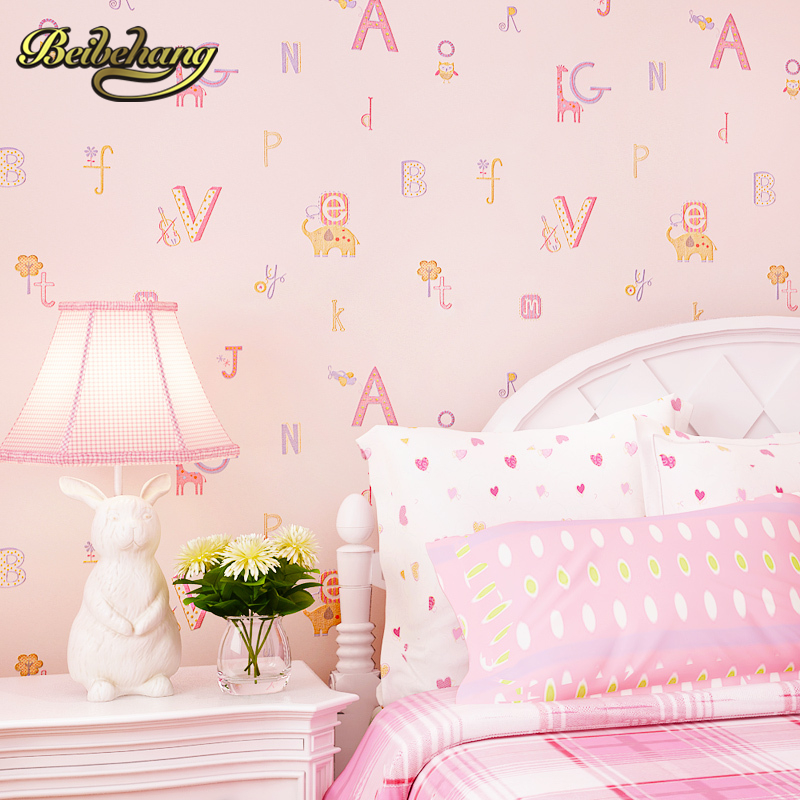 beibehang wall paper Pune environmental non-woven childlike cartoon children's room wallpaper bedroom three-dimensional letters beibehang wall paper pune retro green garden flower american country backdrop environmental non woven wallpaper bedroom living