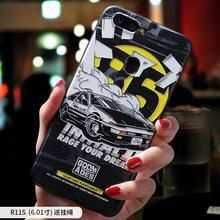 цена на Initial D ,Moon Astronaut ,Smoking warning embossed Relief case For OPPO R11 PLUS R11 , R11S PLUS R11S case cover
