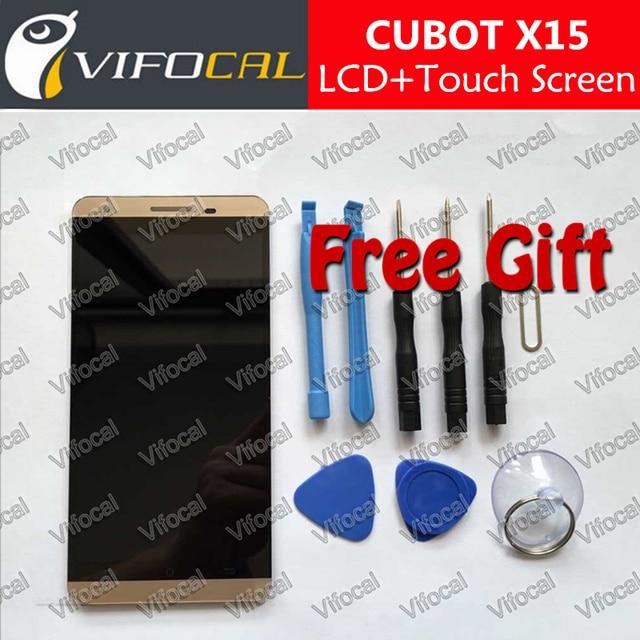 Cubot x15 lcd display + touch screen + herramientas 100% original digitalizador asamblea reemplazo de accesorios para el teléfono celular