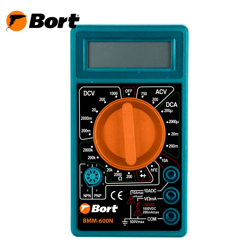 Digital multimeter Bort BMM-600N mastech ms8211 pen type digital multimeter non contact ac detector