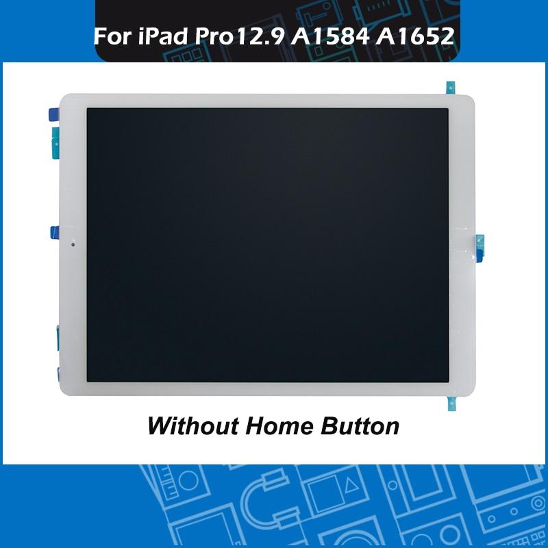 """Nowy czarny biały dla iPad Pro 12.9 """"A1652 A1584 LCD ekran montażowy wyświetlacz panel dotykowy bez przycisku ML0F2LL EMC2827 w Ekrany LCD i panele do tabletów od Komputer i biuro na AliExpress - 11.11_Double 11Singles' Day 1"""