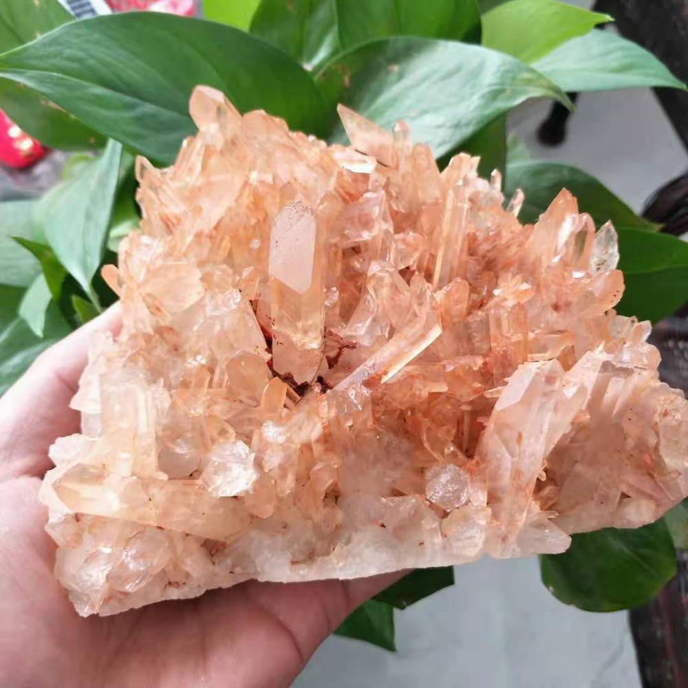 780-800g naturel beau thé jaune cristal cluster cristal naturel reiki guérison mariage décoration aquarium