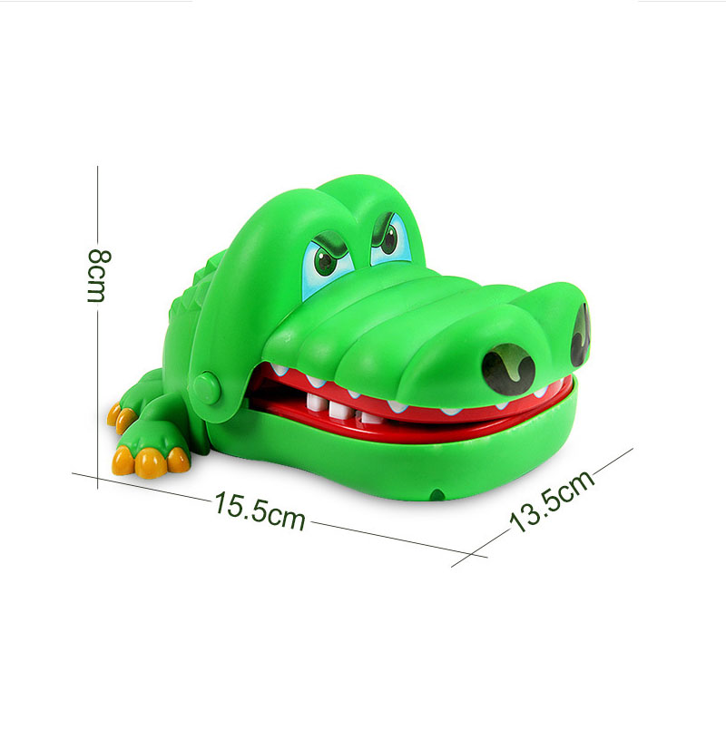 Hot Sell 1 PCS Creative Practical Jokes Mouth Tooth Alligator Hand Childrens Family Games Classic Biting Hand Crocodile Toy