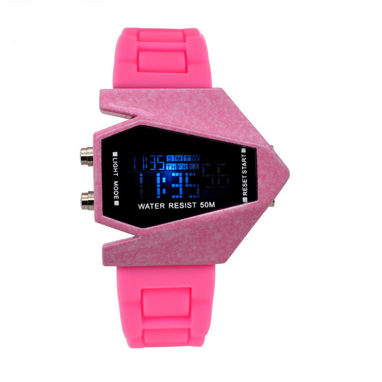 Top Brand LED Children s Digital Sports Wristwatches Waterproof Outdoor Airplane Watches Relogio Masculino Mirror Student