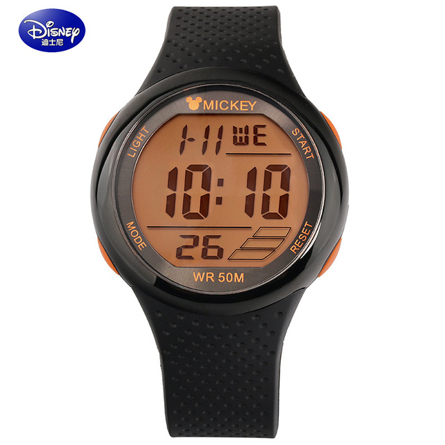 Disney Brand Mens Sports Watches Dive 50m Digital LED Military Watch Men Fashion Casual Electronics Wristwatches Hot Clock