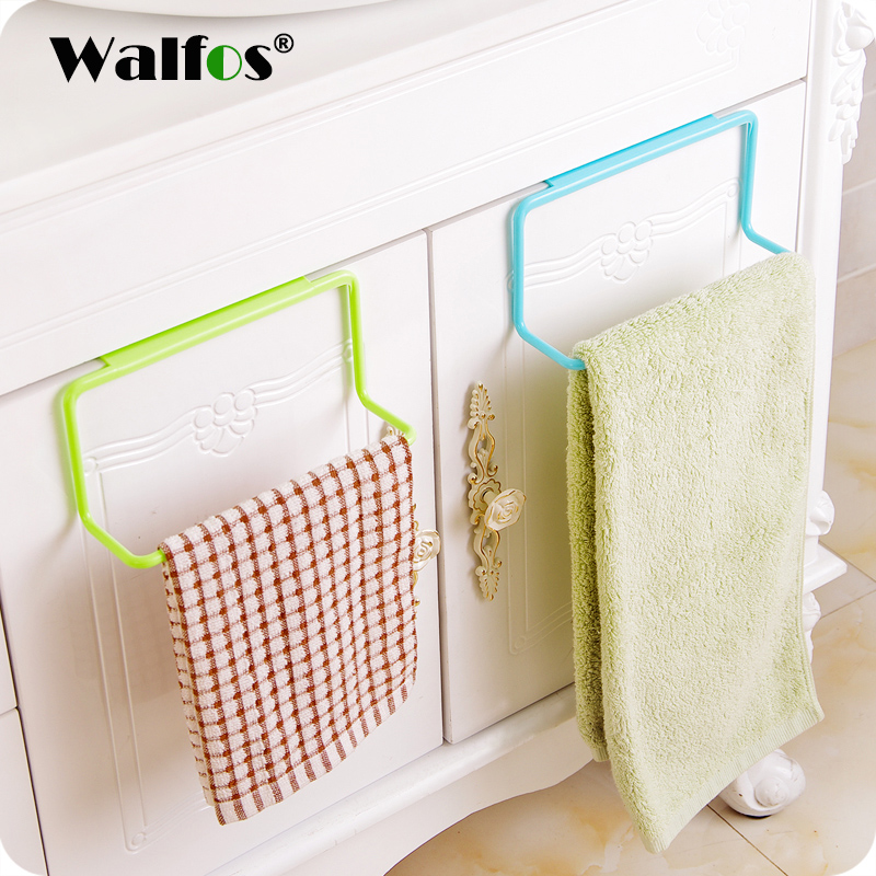 WALFOS Storage Holders Towel Rack Hanging Holder Organizer Bathroom Kitchen Cabinet Cupboard Hanger Rangement